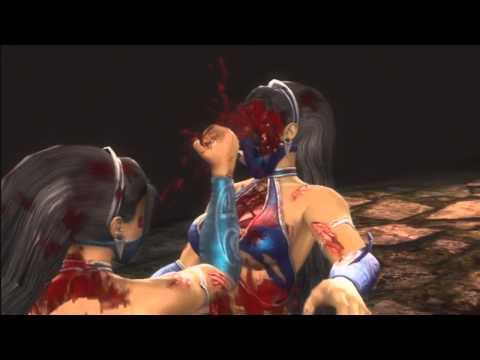 Mortal Kombat 9 - 2011 - Kitana Fatalities and  Babality