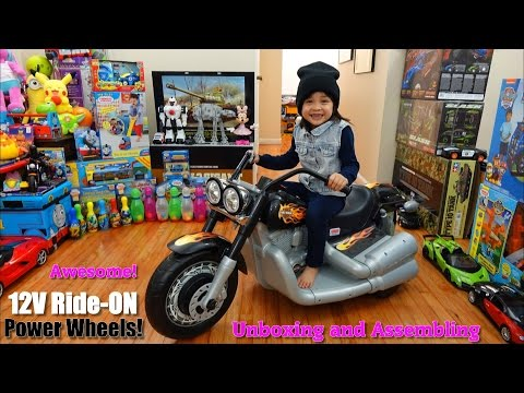 Fisher-Price Power Wheels: 12 Volts Harley Davidson Motorcycle Ride-On + Real Motorcycles!