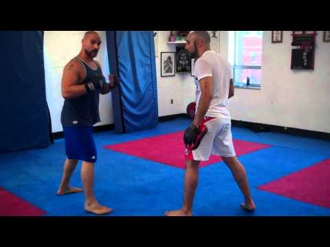 MMA BOXING COMBINATION TO THE DOUBLE LEG TAKEDOWN