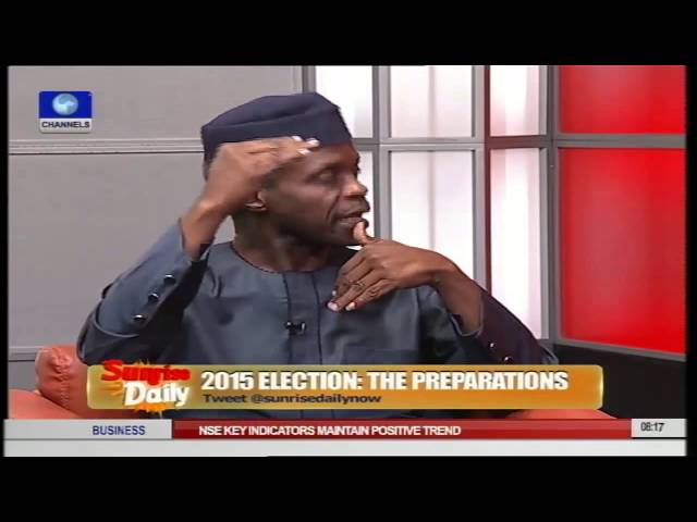 Osinbajo Says 'Nervousness' Responsible For PDP's Accusations Pt.3