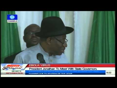 Jonathan To Meet With State Governors Over Ebola Outbreak