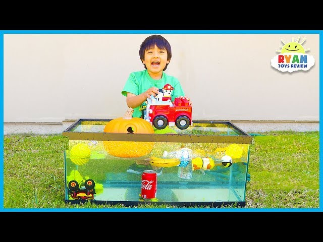 Sink for Float for Kids Science Experiments you can do at home with Ryan ToysReview!