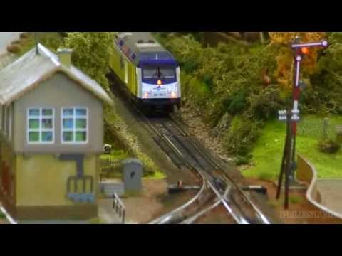 Model Train Modular Layout in H0 Scale with sexy Scenery
