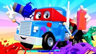 Xe tải vẽ tranh nghệ thuật - Siêu xe tải Carl 🚚⍟ những bộ phim hoạt hình về xe tải