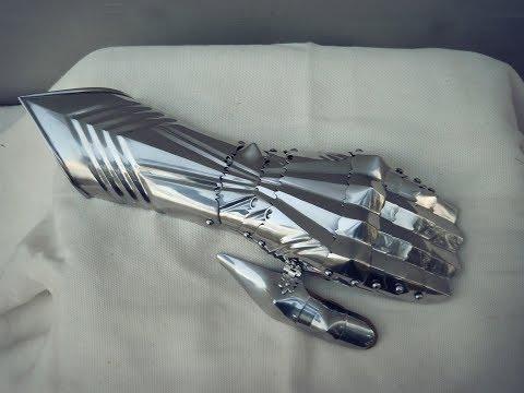 Как сделать готические  рукавицы / How to make a gothic gauntlets