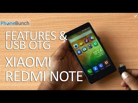 Xiaomi Redmi Note India Features and USB OTG Support