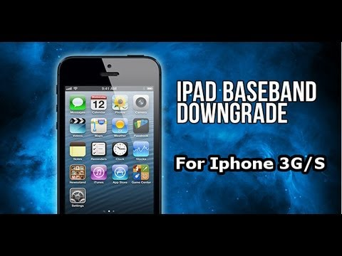 How To Downgrade 6.15.00 Baseband iPhone 3Gs/3G to 5.13.04 & Unlock your Iphone [HD]