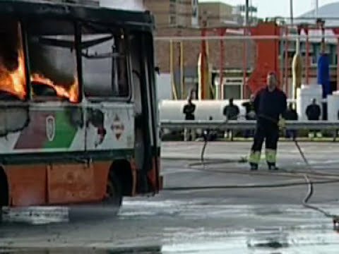Simulacro de incendio EMT. Parte 1