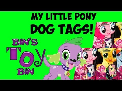 My Little Pony DOG TAGS Blind Bags from Enterplay! Opening & Review by Bin's Toy Bin