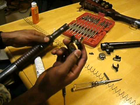 Winchester 1897 Shotgun Front Disassembly