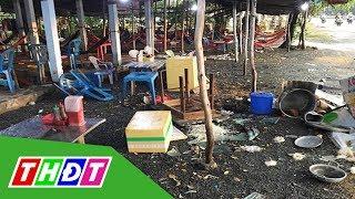Quán nước đánh khách ở Long An bị đập phá   THDT