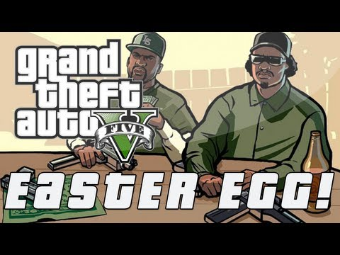 Grand Theft Auto 5   CJ & Grove Street Gang Easter Egg (GTA V)