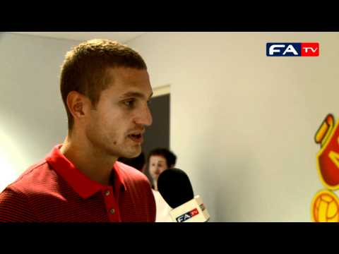 The FA Community Shield - 2010 Nemanja Vidic Post Match Interview