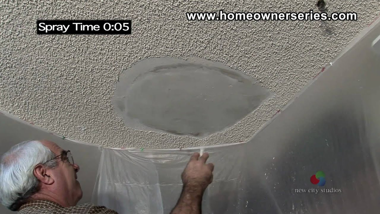How To Texture Drywall Popcorn Ceiling Repair