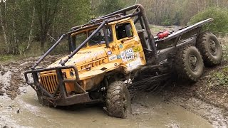 LKW Truck offroad Ural 6x6 compilation