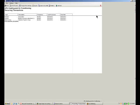 Sage Simply Accounting 2012 Using Recurring Transactions