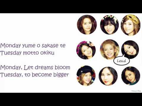 Girls' Generation - Everyday Love Lyrics