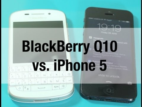iPhone 5 vs. BlackBerry Q10