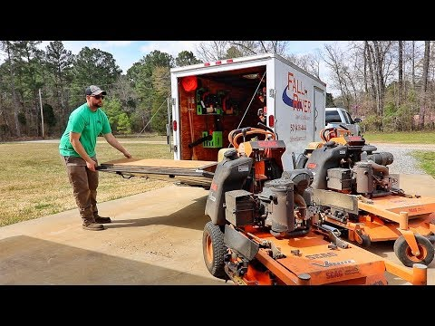 Enclosed Lawn Care Trailer Setup Changing things up with Green Touch