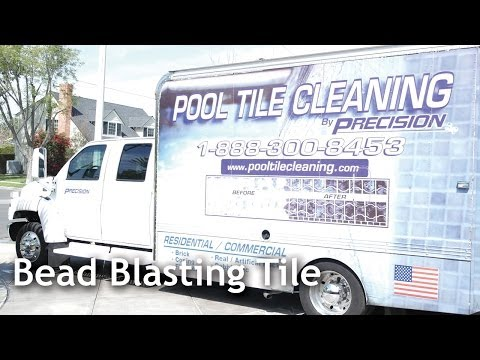 Bead Blasting Tile for Calcium and Stain Removal