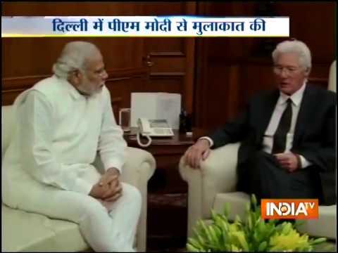 Actor Richard Gere meets Prime Minister Narendra Modi
