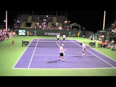 Leander Paes and Mahesh Bhupati - Indian Wells - March 2011