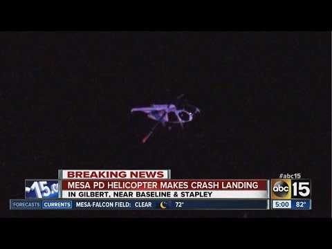 Mesa PD helicopter makes crash landing