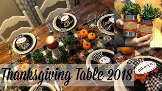 THANKSGIVING TABLE 2018 // SIMPLE DIY'S FOR YOUR TABLE