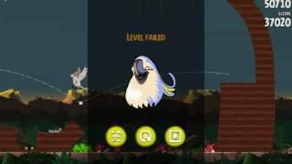 Angry Birds Rio - Mac Game Level Fail Screen On The boss Level 4-15
