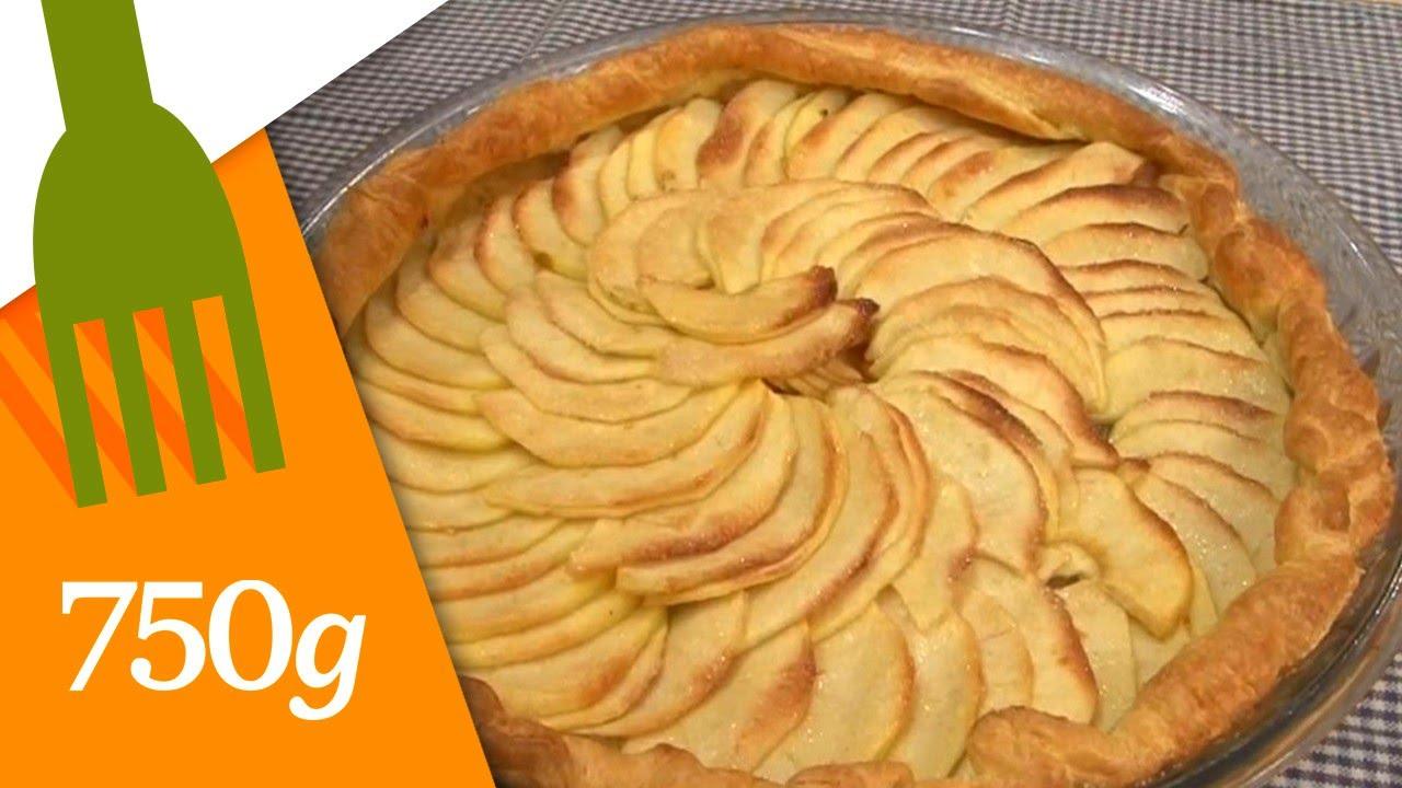 Vraie tarte aux pommes maison french apple tart - Tarte aux pommes compote maison ...