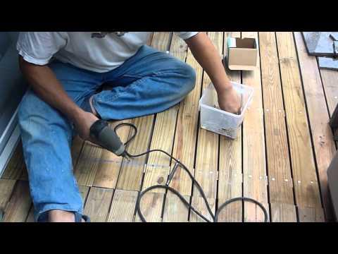 DIY木工ウッドデッキの作りかた パート2how to build wood deck part2