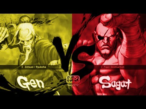 yeb [ Gen ] Vs Bloodysnails [ Sagat ] SSF4 Arcade Edition 2012 HD