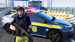GTA 5 ROLEPLAY POLICIAL - FUGA NA POLICIA RODOVIÁRIA FEDERAL? DEU RUIM !