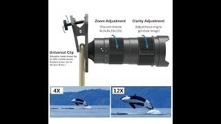 Apexel NEW 4x-12x Variable Magnification Phone Zoom Lens Review