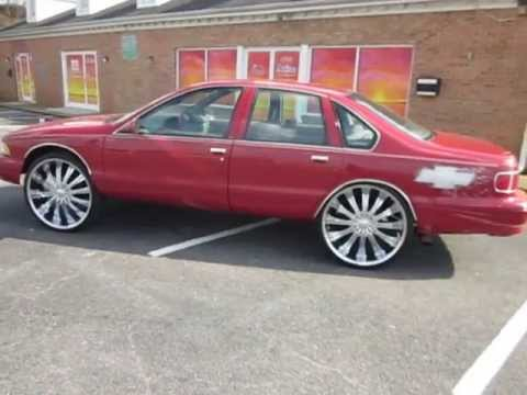 Red 96 Chevy Caprice on 26's / Johns Restoration
