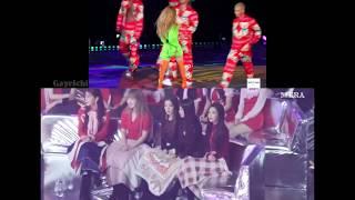 171202 RED VELVET reaction to HYUNA - Lip & Hip @ Melon Music Awards 2017