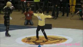 120108 Idol Star Athletics Championships - Teen Top Niel funny dance