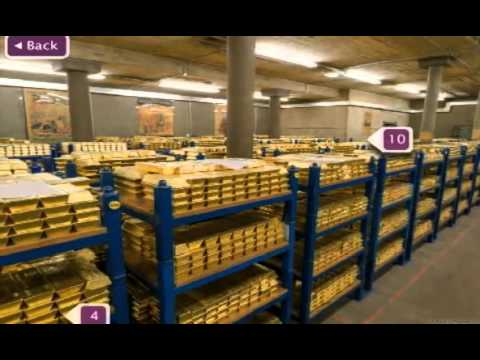 tour inside the vaults at the Bank of England