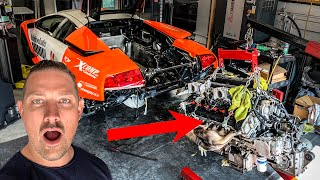 REBUILDING MY WRECKED LAMBORGHINI V12 MURCIELAGO! Part 1  *HIDDEN DAMAGE*