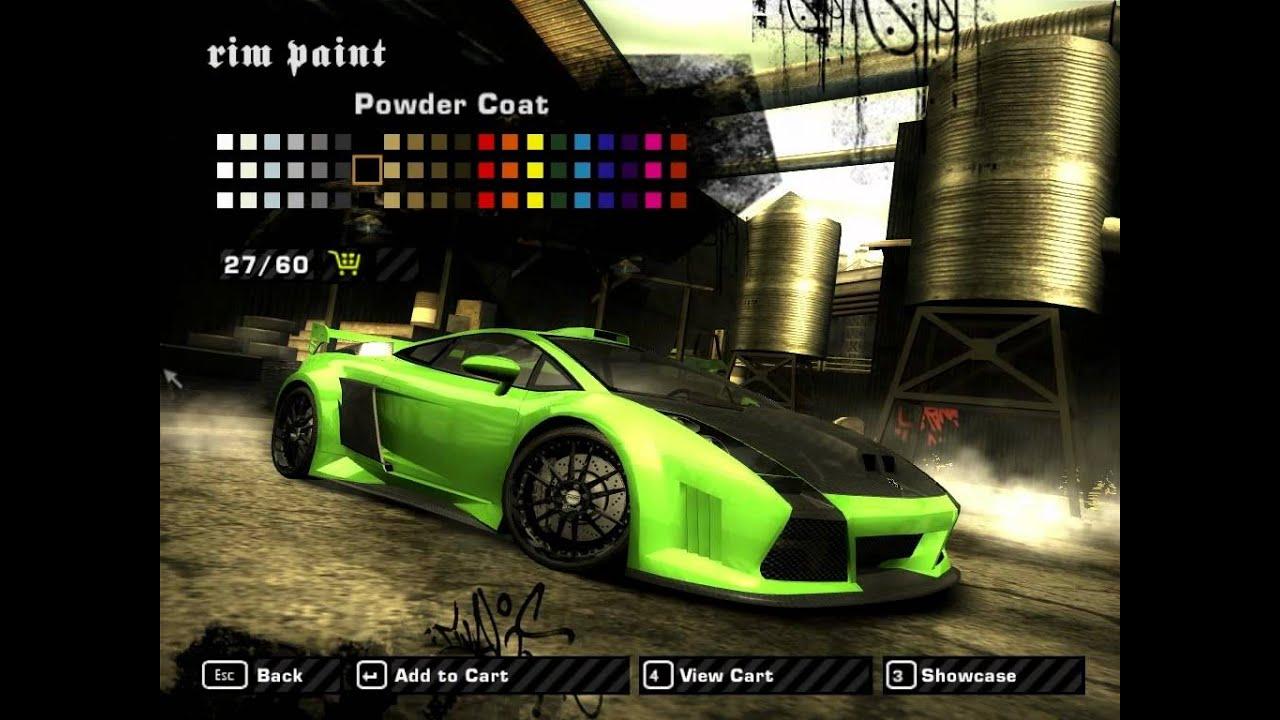 Nfs Most Wanted Tuning Lamborghini Gallardo Hd Youtube