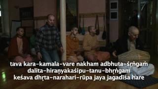 2011.10.08. Mangala Arati, Nrisimha  HG Sankarshan Das Adhikari - Riga, Latvia
