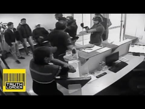Venezuela military police raid caught on CCTV - Truthloader