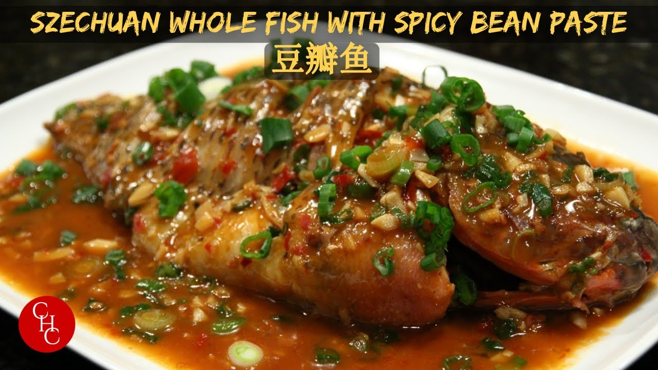 Whole fish with spicy bean paste youtube for Whole fish recipes