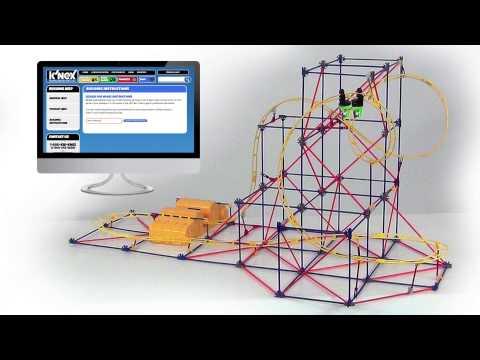 K'NEX Hyperspeed Hangtime Roller Coaster Building Set