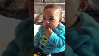My cute baby laughing