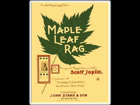 Maple Leaf Rag - SCOTT JOPLIN (1899) Ragtime Piano Roll Legend