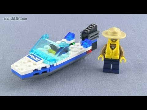 LEGO City Police Boat 30017 polybag set review!