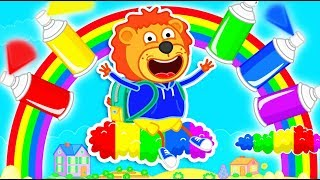 Lion Family 🎨 Colored Paints Draw a Magic Toys | Cartoon for Kids