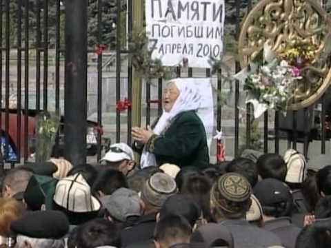People in Kyrgyzstan Mourn Those Killed in Protests