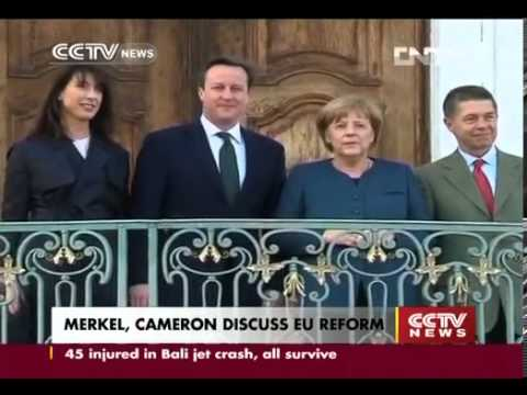 Merkel, Cameron discuss EU reform